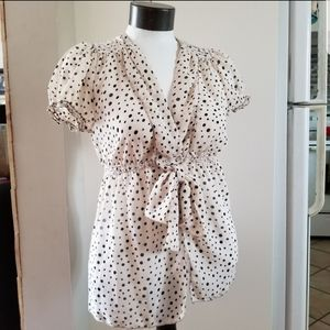 Max Studios polka dot blouse Size Medium